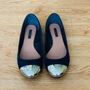 Zara Flats with metal toe
